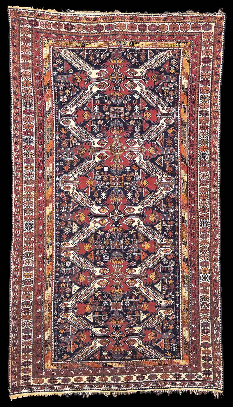 Teppiche Munich Antique Kuba Gollu Chichi Carpet With Four Diagonal