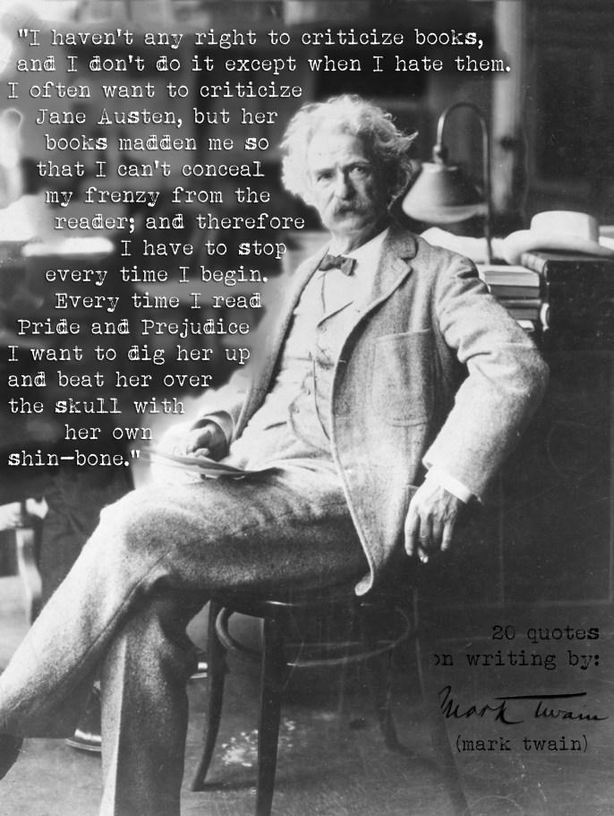 Mark Twain Writing