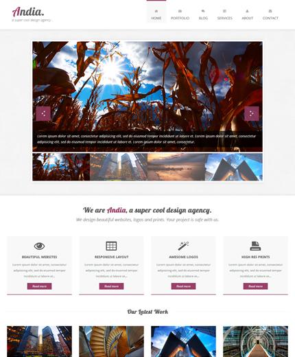 Free HTML Template Andia Responsive Agency/Portfolio Bootstrap