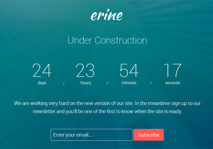 Free Template Erine Bootstrap Coming Soon Page AZMIND