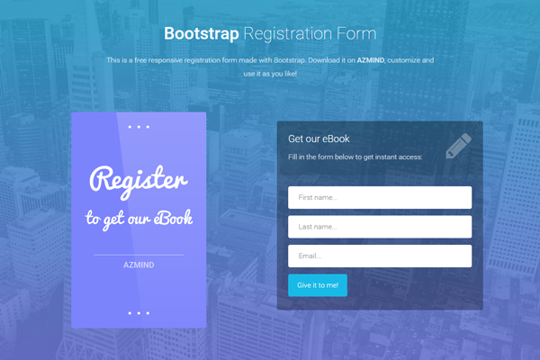 Bootstrap Registration Forms 3 Free Responsive Templates AZMIND
