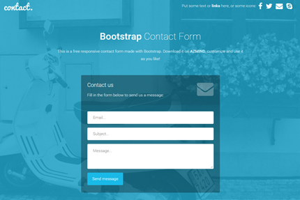 Bootstrap Contact Forms 2 Free Responsive Templates AZMIND