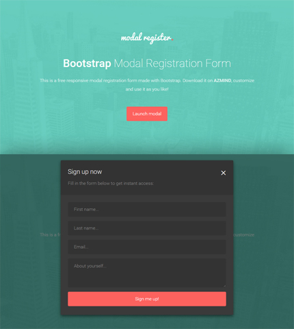 Bootstrap Modal Registration Forms 2 Free Templates AZMIND