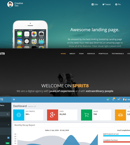20+ Best Free Bootstrap Templates from the web AZMIND