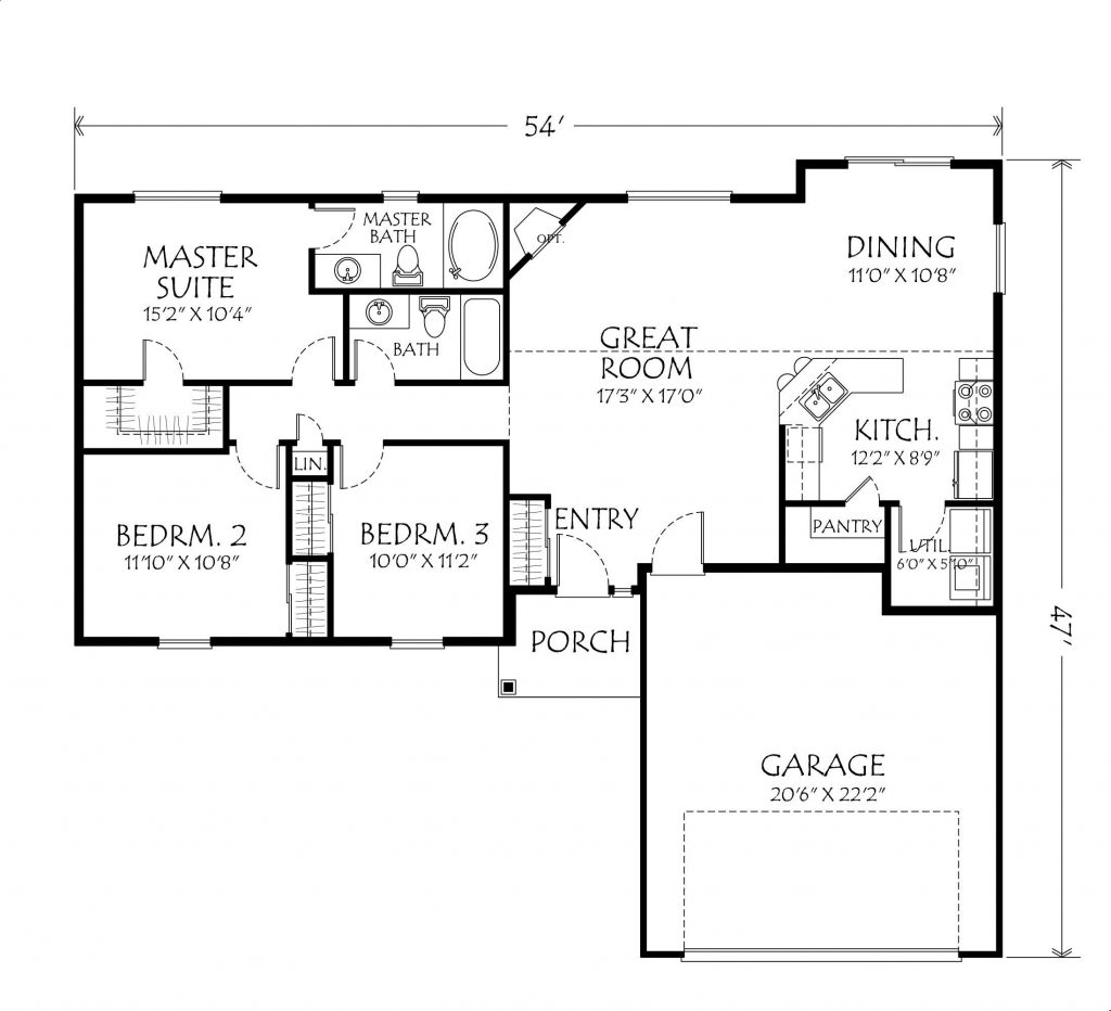 Us Homes Floor Plans Beautiful Single Story Open Floor Plan Homes New Home