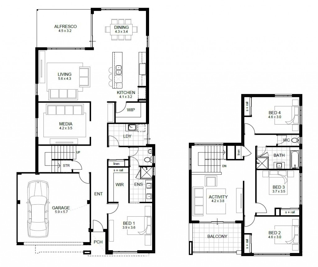 2 Bedroom Modern House Plans Awesome Free 4 Bedroom House Plans And Designs New Home