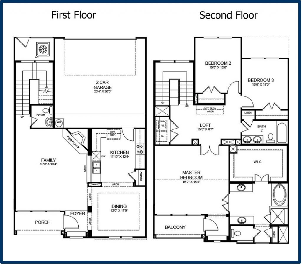 Modern Homes Floorplans Best Of 2 Story Modern House Floor Plans New Home Plans
