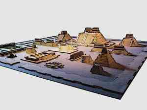 Azec Capital Tenochtitlan Model - The public building of central importance was the famous Templo Mayor