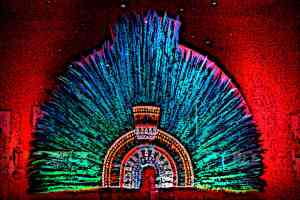 Feather headdress Moctezuma II