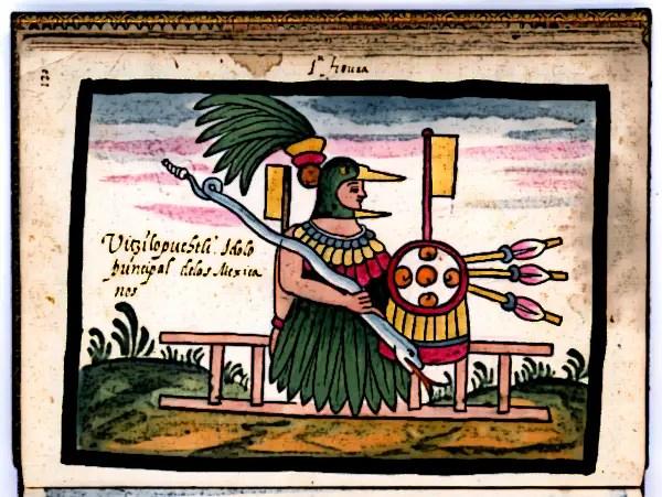Huitzilopochtli-the-Principal-Aztec-God