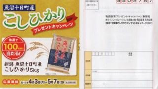 【終了】2017/5/7ライフコーポレーション・亀田製菓 魚沼十日町産こしひかりプレゼントキャンペーン