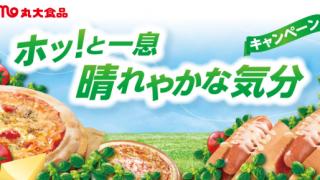 2018/6/20丸大食品 ピザ&スナックシリーズ ホッ!と一息 晴れやかな気分キャンペーン