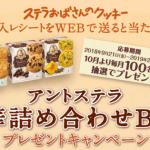 2019/2/28森永製菓 ステラおばさんのクッキー アントステラ豪華詰め合わせBOXプレゼントキャンペーン