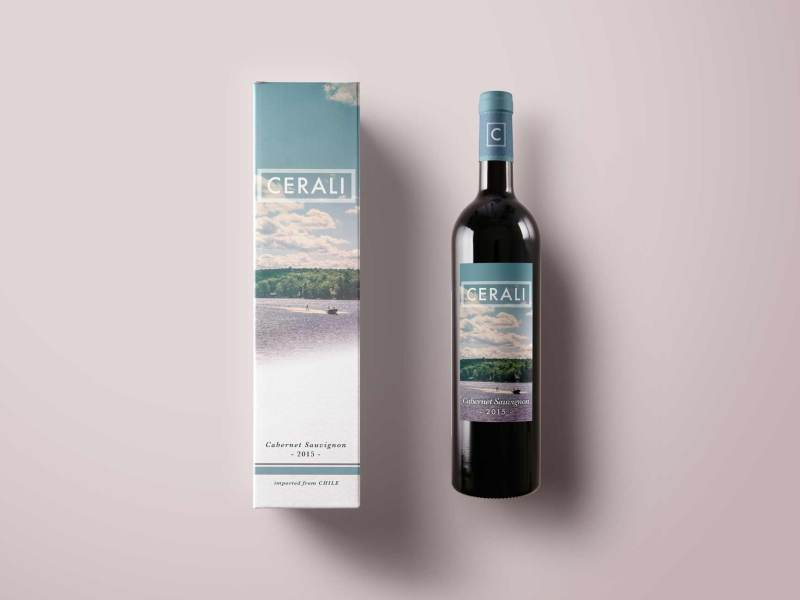 Cerali Wine Packaging and Logo