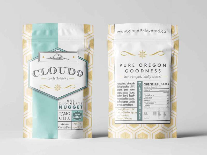 Cloud 9 Confectionery Logo and DoyPack