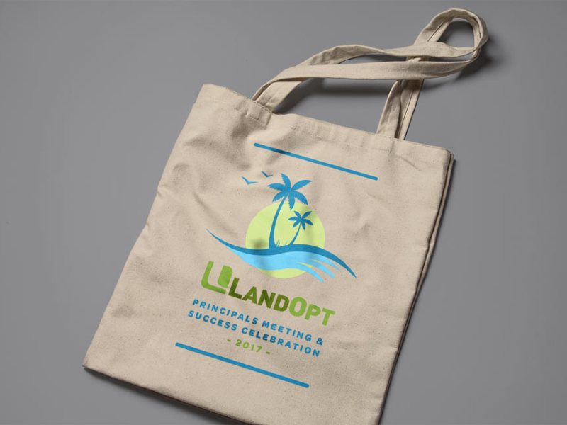 LandOpt-Event-Logo-and-Bag-Azulan-Design-Sacha-Webley