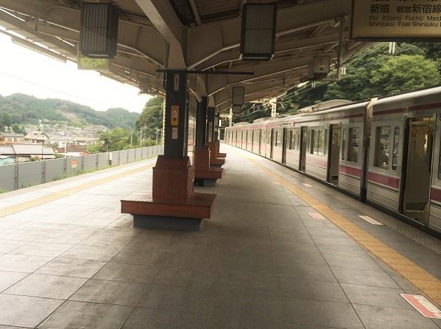 高尾山口駅ホーム
