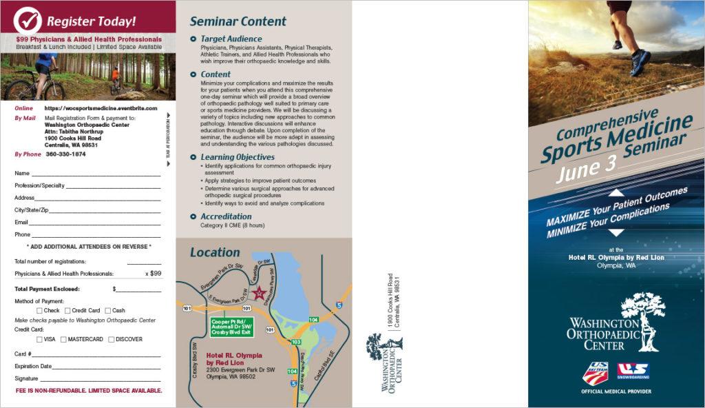 Washington Orthopedic Center Sports Medicine Brochure - sports brochure