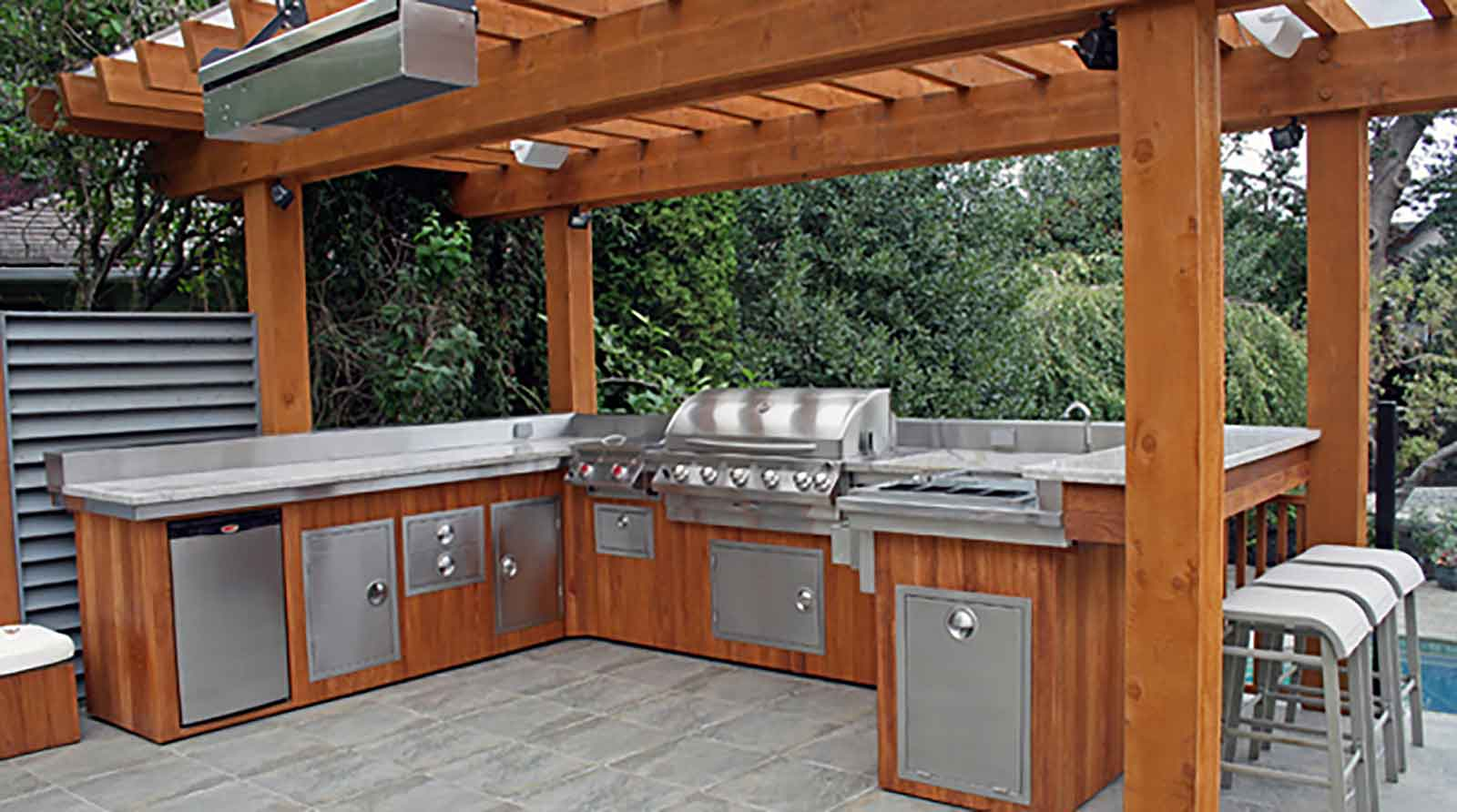 Outdoor Kitchen Cabinet Ideas Custom Designed Outdoor Kitchens Azuro Concepts