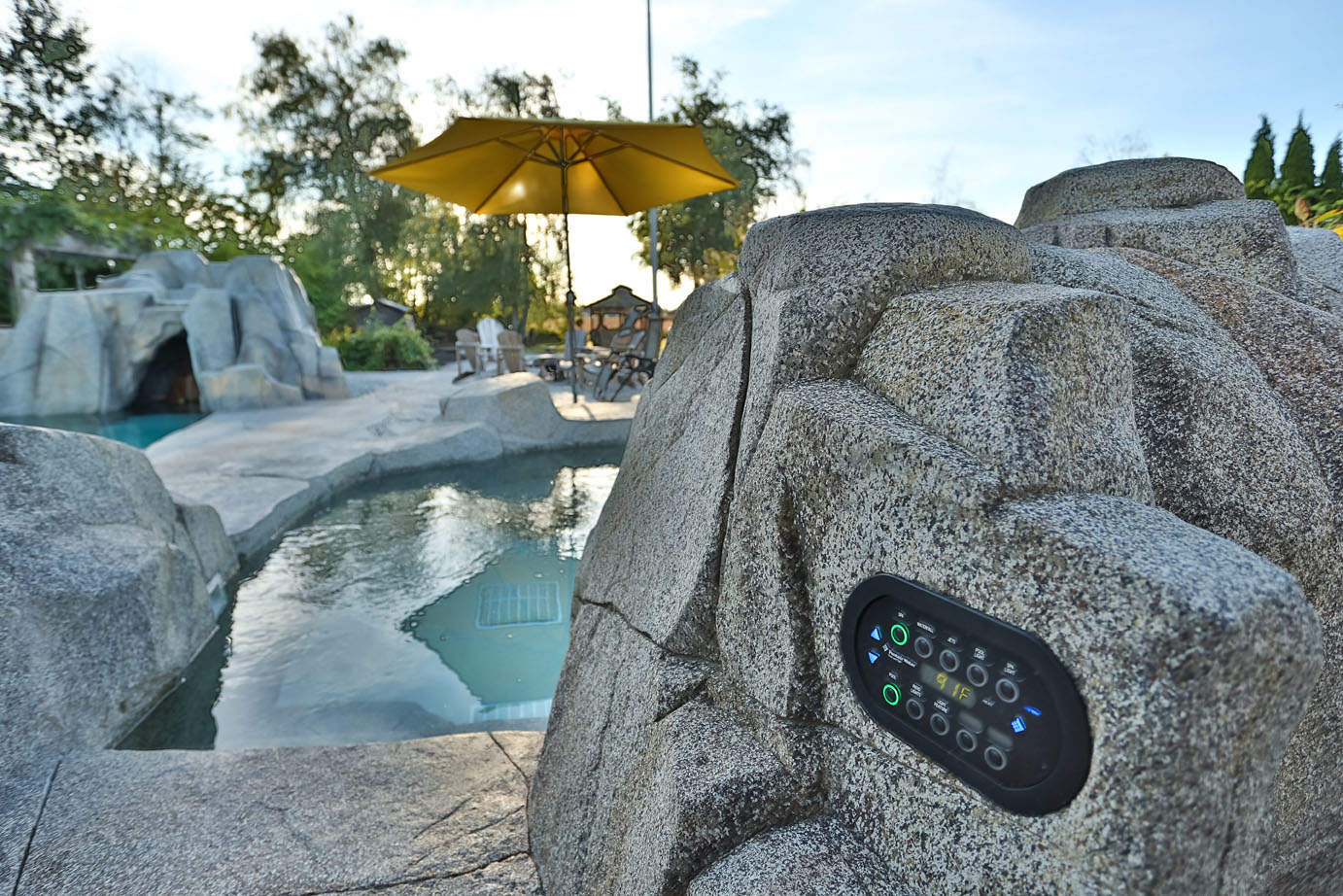 Swimming Pool Shape Custom Designed Artificial Rock Work | Azuro Concepts