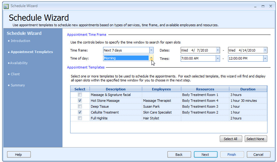 Appointment Scheduling Software - Business Appointment Manager - appointment scheduling sheets