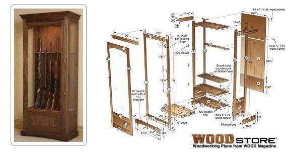 Gun Cabinets Plans Diy Woodworking Plans