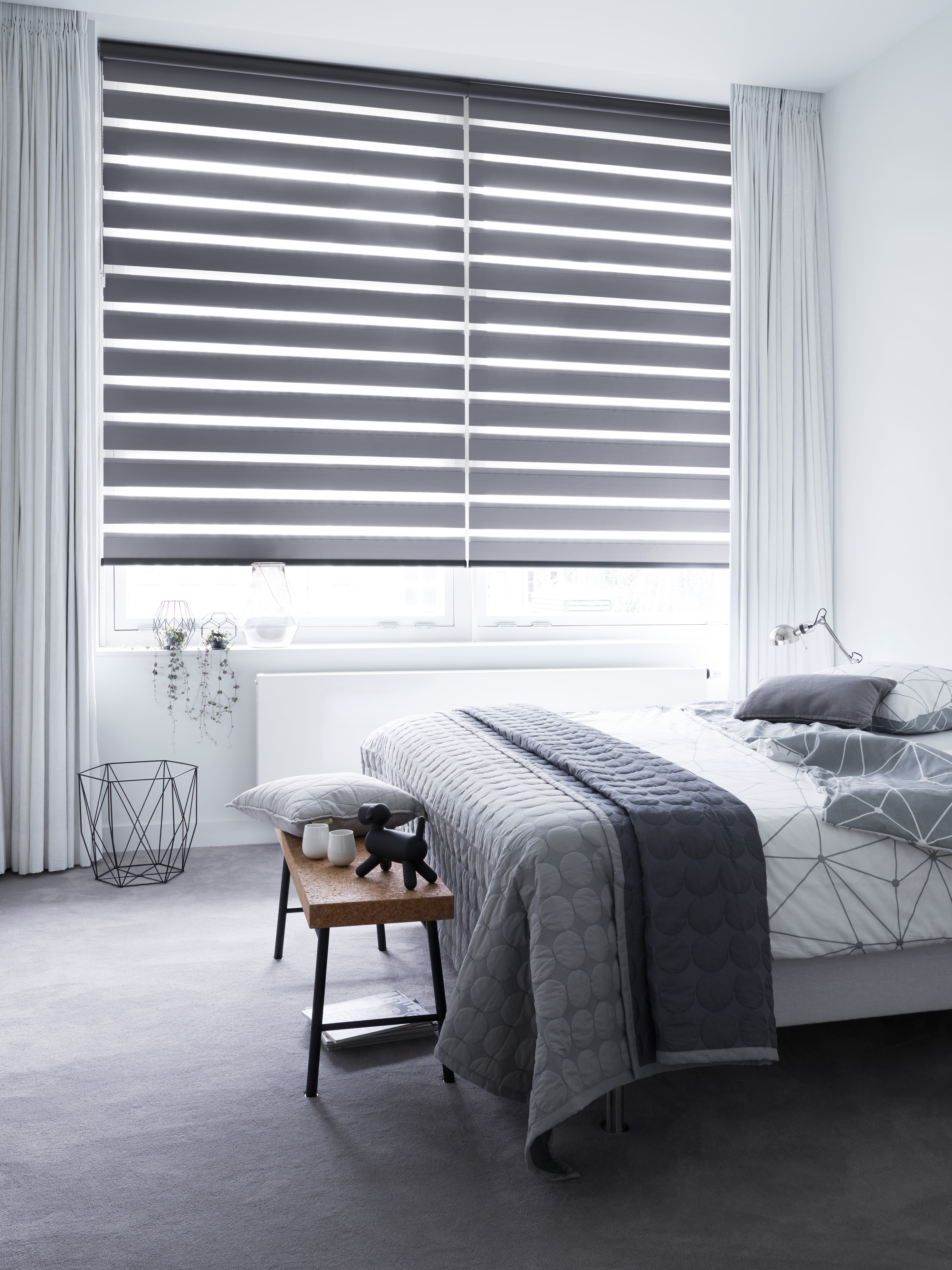 Slaapkamer Fabric Duo Roller Blinds B C