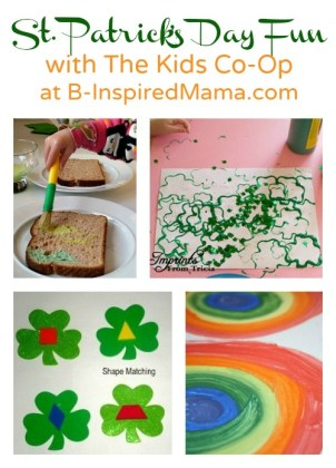 St. Patrick's Day Fun with The Kids Co-Op at B-InspiredMama.com