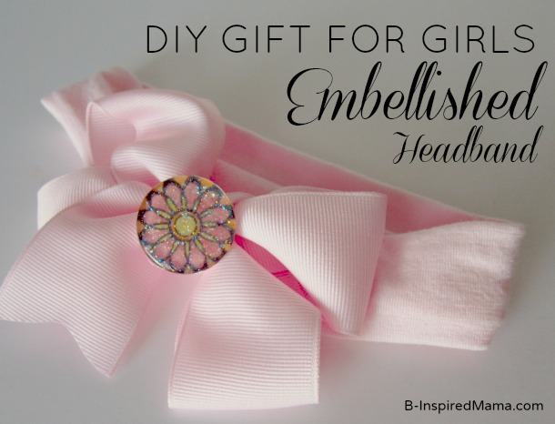 Embellished Hair Bow for PSA Essentials by B-InspiredMama.com