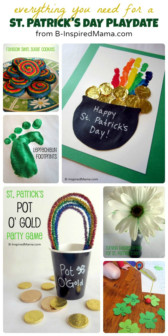 St Patrick's Day Playdate from B-InspiredMama.com and Octavia & Vicky