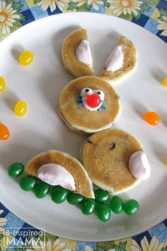 Easy Easter Bunny Pancakes for Kids at B-Inspired Mama
