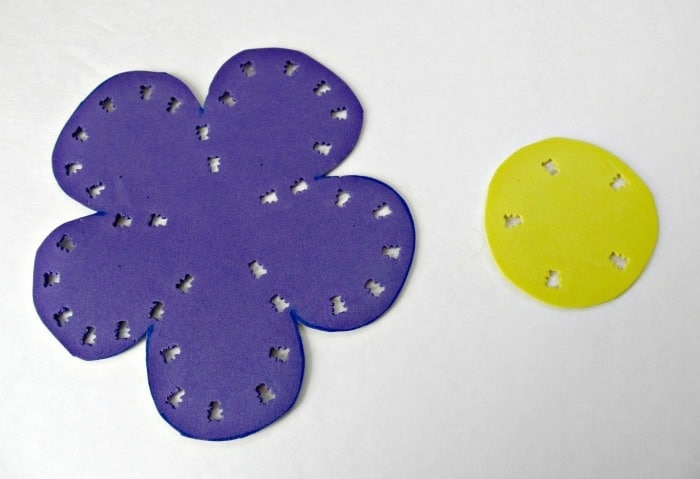 Foam Cutouts for Kids Sewing Project at B-InspiredMama.com