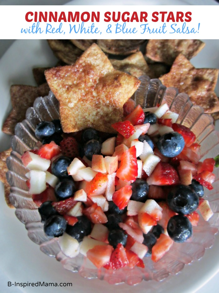 Patriotic Fruit Salsa with Sweet Star Chips
