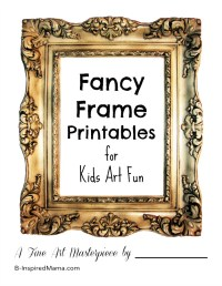 Kids Art Gallery Activity + Picture Frame Printable - B ...