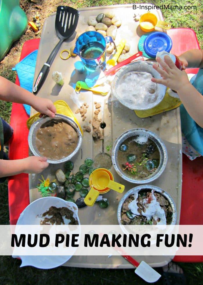 A Kids Mud Pie Messy Playdate