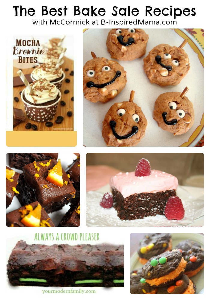 6 Easy Bake Sale Recipes + My White Chocolate Pumpkin Cookies Recipe - easy bake sale goodies