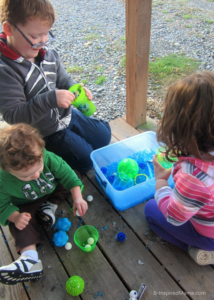 Sensory Play Inspired by Monsters University at B-Inspired Mama