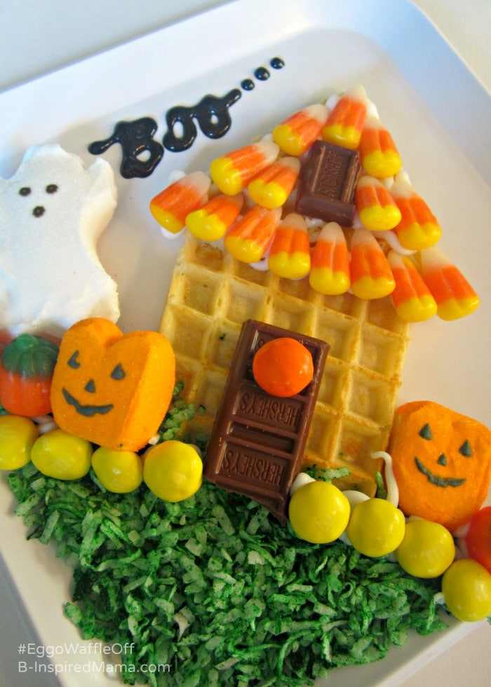 Using Halloween Treats for a Yummy Haunted House - Sponsored by #EggoWaffleOff at B-Inspired Mama