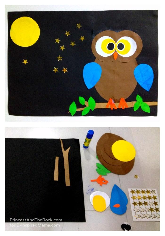 A Shape-ly Owl Craft for Kids \u2022 B-Inspired Mama