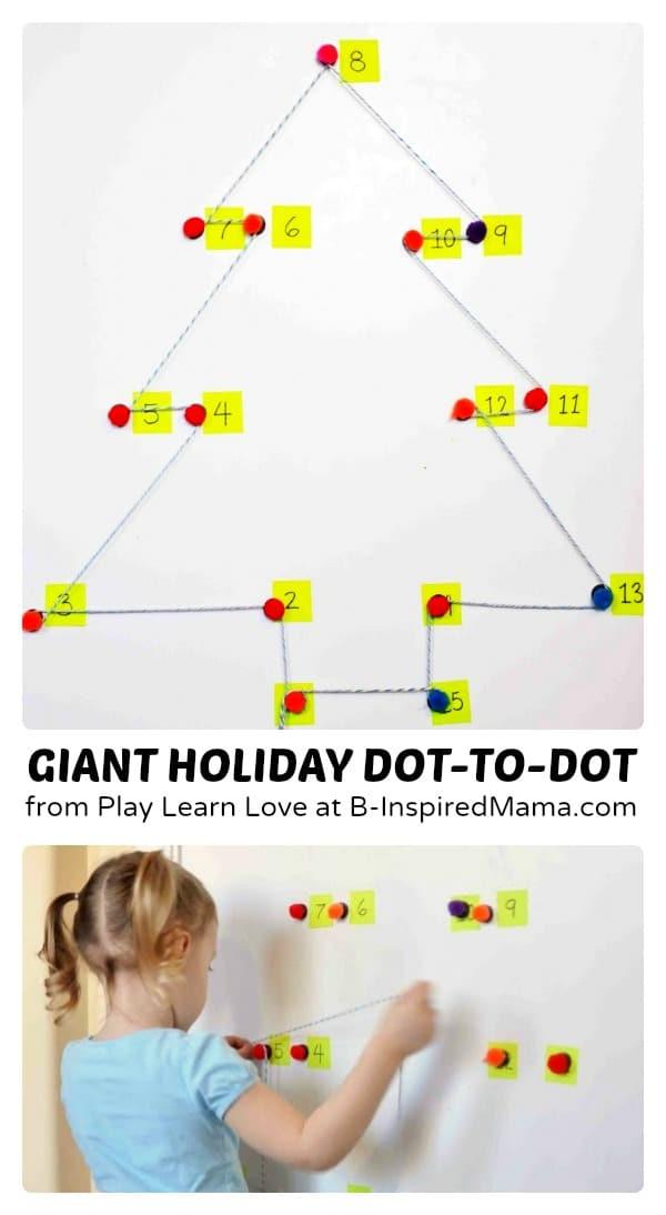 Giant Holiday Dot-to-Dot Counting Games at B-Inspired Mama