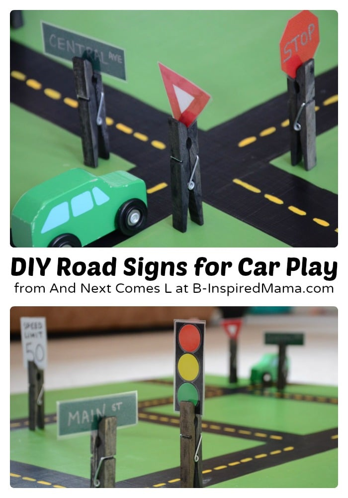 Easy diy toys fun road signs b inspired mama for Easy diy toys