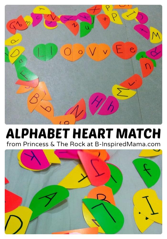 Kids Alphabet Hearts Matching Game