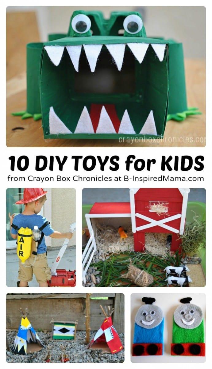 10 DIY Toys to Encourage Imagination