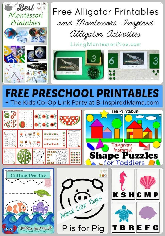 Tons of Free Preschool Worksheets  Printables