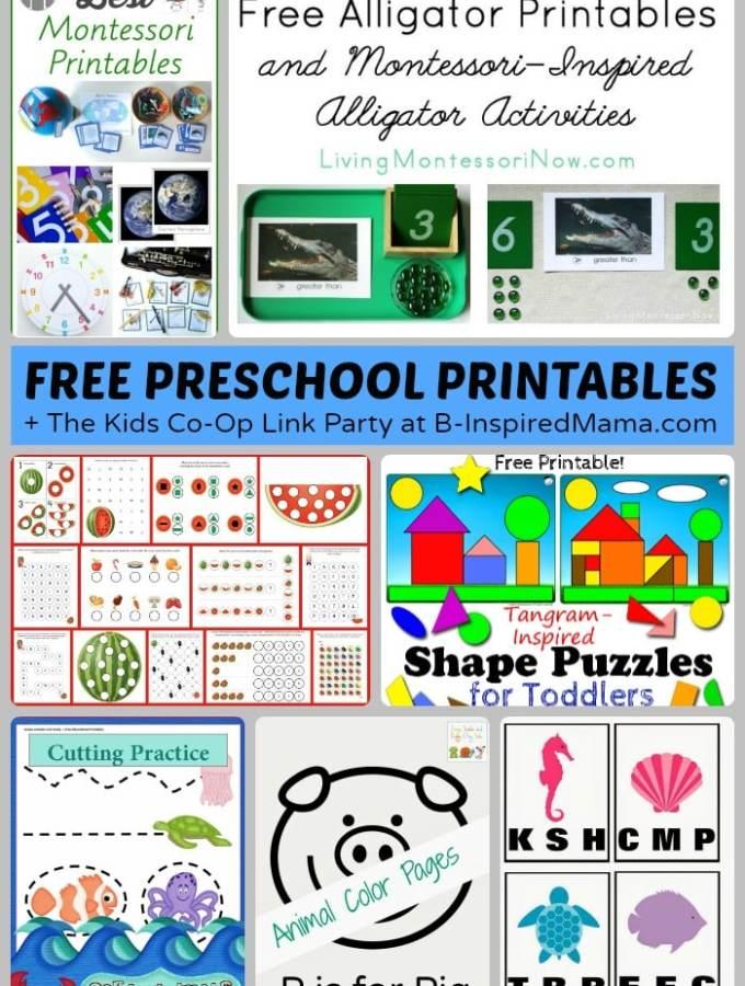 Free Preschool Worksheets and Printables