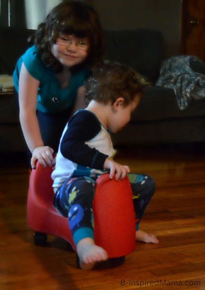 Playing - Fun and Function Soft Saddle Scooter Review + More Kids Holiday Wishlist Reviews at B-Inspired Mama