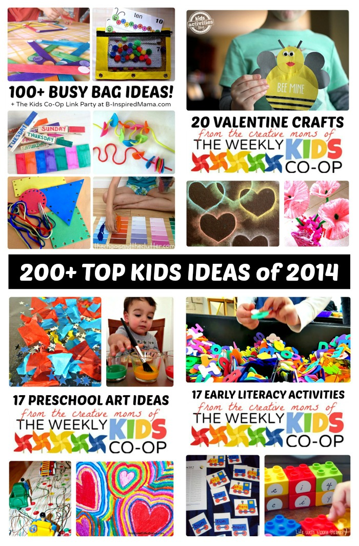 200+ Top Kids Activities from 2014 + The Kids Co-Op Link Party