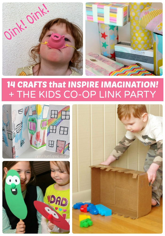 Fun Crafts to Inspire Imagination + The Kids Co-Op Link Party