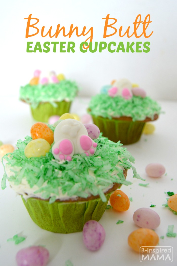 Kids in the Kitchen – Bunny Butt Easter Cupcakes