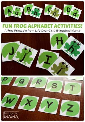 Free Frog Printable Alphabet Activities at B-Inspired Mama